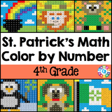 St. Patrick's Day Math Color-by-Number - 4th Grade - Games 4 Gains  - 1