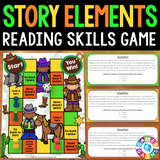 Story Elements Board Game - Games 4 Gains  - 1
