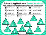 Subtracting Decimals Bump Games - Games 4 Gains  - 3