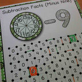 Subtraction 'Squares' Game - Games 4 Gains  - 2