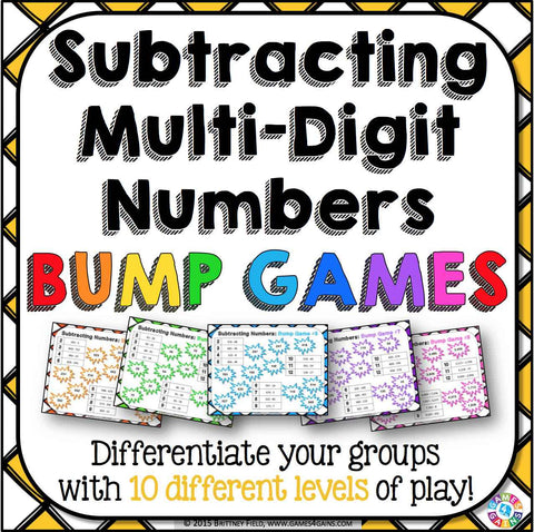 Subtraction Bump Games - Games 4 Gains  - 1