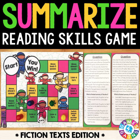 Summarizing Fiction Board Game - Games 4 Gains  - 1