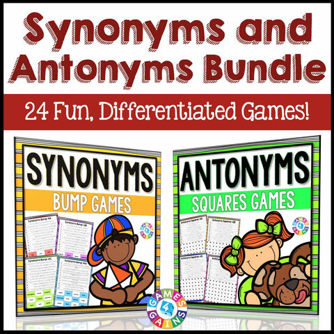 Synonyms and Antonyms Games Bundle - Games 4 Gains  - 1