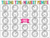 Telling Time to the Nearest Minute Bingo Game - Games 4 Gains  - 2