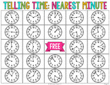 Telling Time to the Nearest Minute Bingo Game - Games 4 Gains  - 3