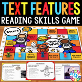 Text Features Board Game - Games 4 Gains  - 1