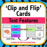 Text Features 'Clip and Flip' Cards - Games 4 Gains  - 1