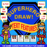 Text Features 'Superhero Draw' - Games 4 Gains  - 1