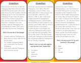 Thanksgiving Reading Comprehension Board Game - Games 4 Gains  - 3