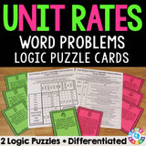 Unit Rates Logic Puzzle Cards - Games 4 Gains