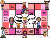 Valentine's Day Reading Comprehension Board Game - Games 4 Gains  - 2