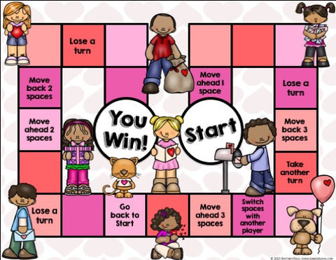 valentines day reading comprehension board game games 4 gains