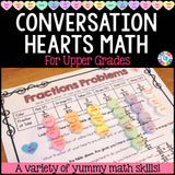 Valentine's Day Math Conversation Hearts Project - Games 4 Gains  - 1