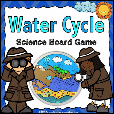 Water Cycle Board Game - Games 4 Gains  - 1
