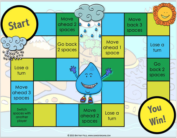 Water Cycle Board Game – Games 4 Gains