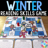 Winter Reading Comprehension Board Game - Games 4 Gains