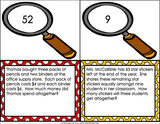 Multi-Step Word Problem Task Cards for 3rd Grade - Games 4 Gains  - 2