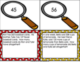 Multi-Step Word Problems Task Cards for 2nd Grade - Games 4 Gains  - 2