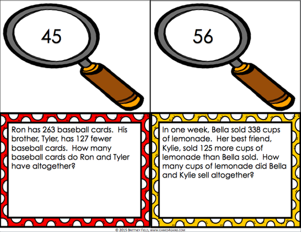 Multi Step Word Problems Task Cards For 2nd Grade Games