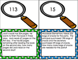 Multi-Step Word Problem Task Cards for 3rd Grade - Games 4 Gains  - 3