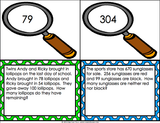 Multi-Step Word Problems Task Cards for 2nd Grade - Games 4 Gains  - 3