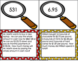 Multi-Step Word Problem Task Cards for 5th Grade - Games 4 Gains  - 2