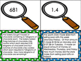 Multi-Step Word Problem Task Cards for 5th Grade - Games 4 Gains  - 3