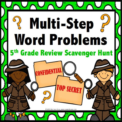 Multi Step Word Problem Task Cards For 5th Grade Games 4