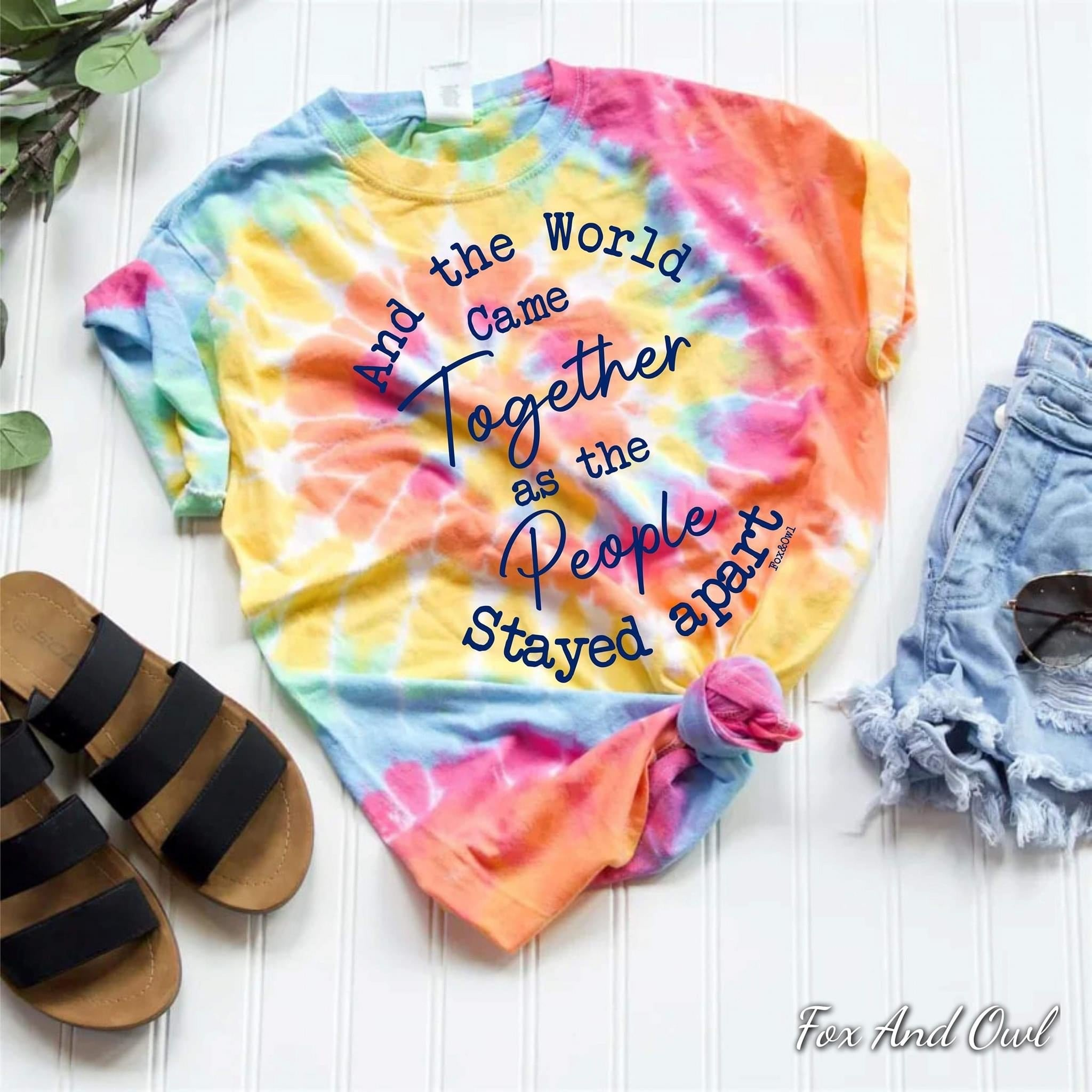 Tie Dye World Together Tee