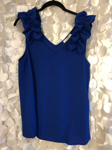 Royal Ruffle Sleeve Tank