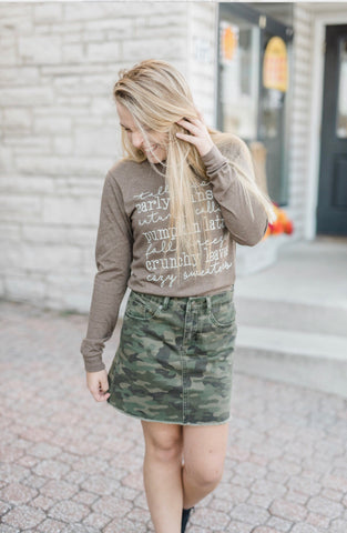 Stevie Skirt Green Camo