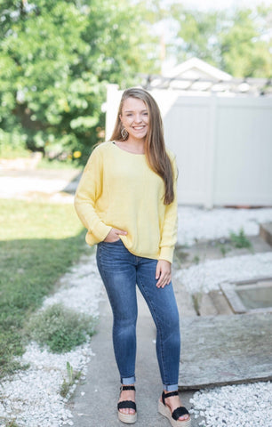 Canary Boatneck Sweater