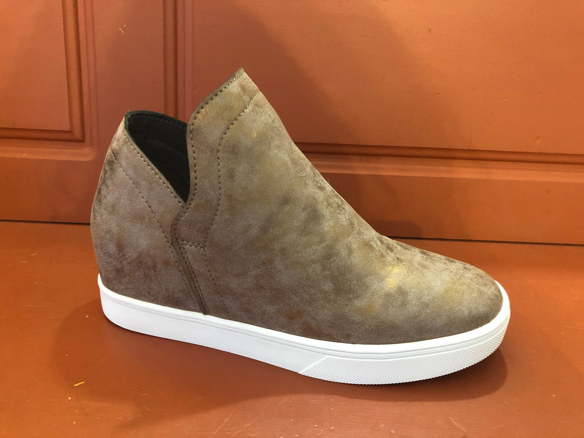 Jersey Bronze Wedge Sneaker