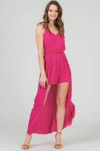 Hot Pink Long Romper