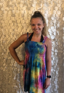 Smocked Tie Dye Dress