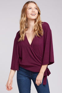 Plum Wrap Knit