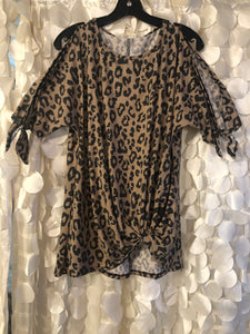 Leopard Open Arm Top