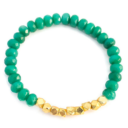 Gold Nugget Bead Bracelet