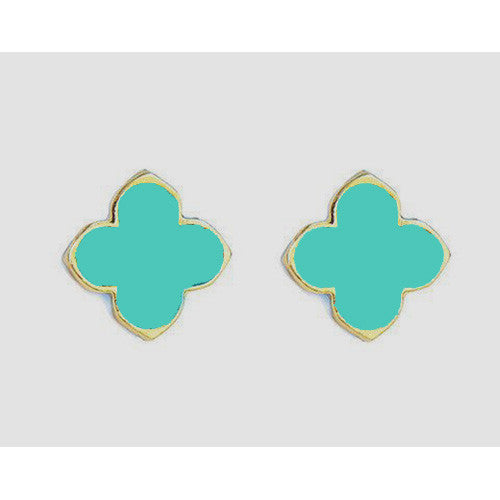 Quatrefoil Bezel Earrings