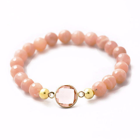 Bezel 6MM Bead Bracelet