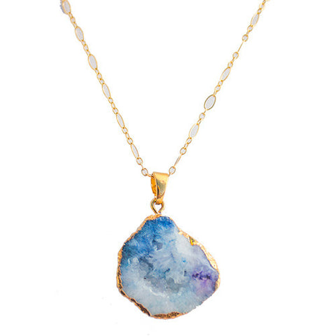 Colorful Geode Stone Necklace
