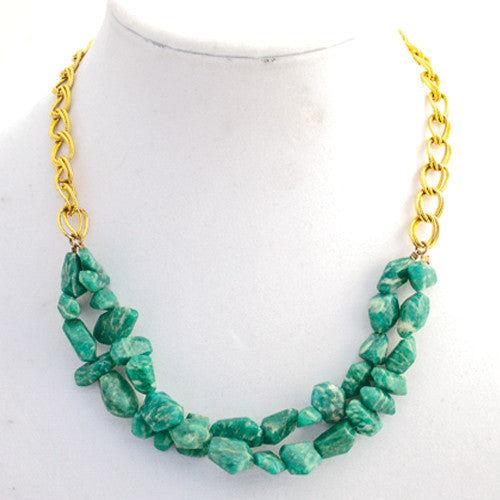 Double Strand Amazonite Necklace