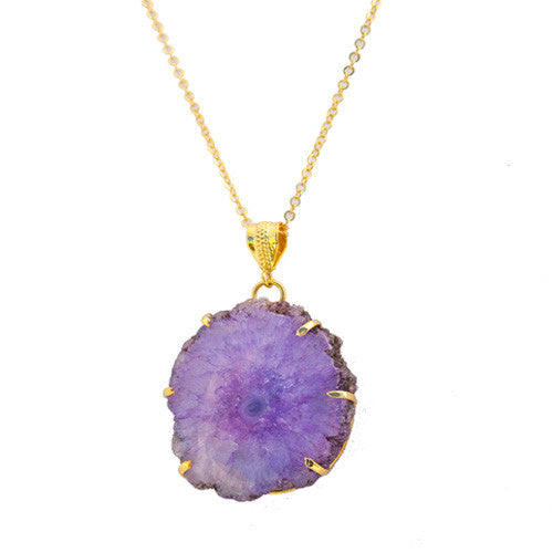 Crystallized Geode Necklace