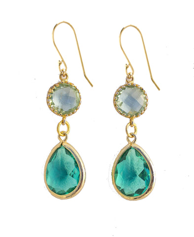 Bezel Drop Earrings