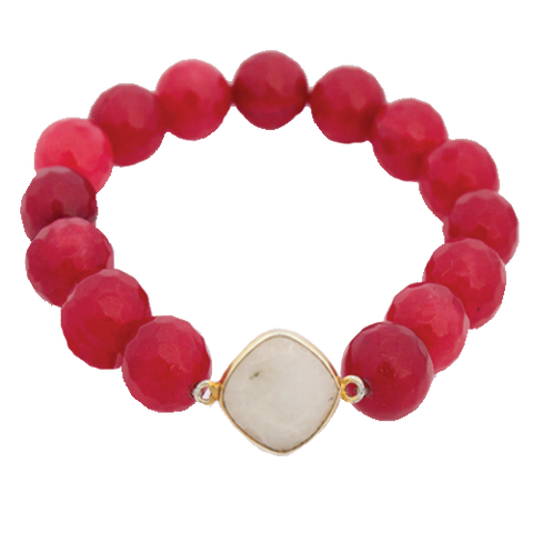 Bezel 8mm Bead Bracelet