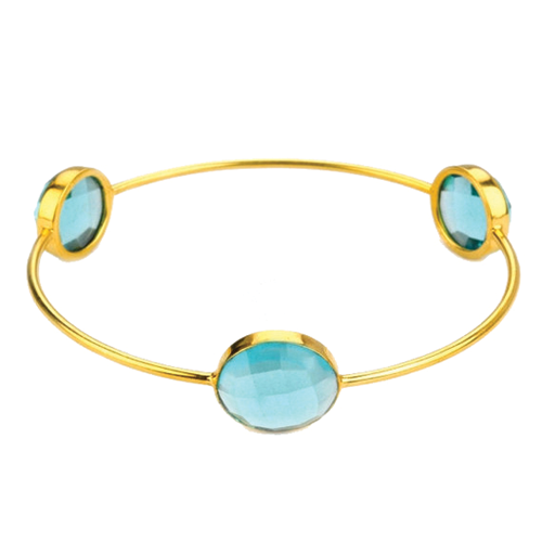 Blue Topaz Gemstone Bangle