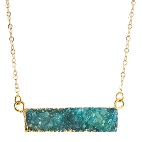 Druzy Bar Necklace