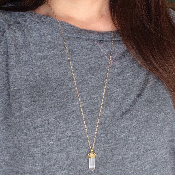 Crystal Arrowhead Necklace