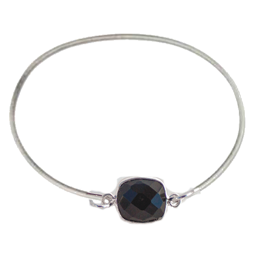 Bezel Wire Bangle Bracelet