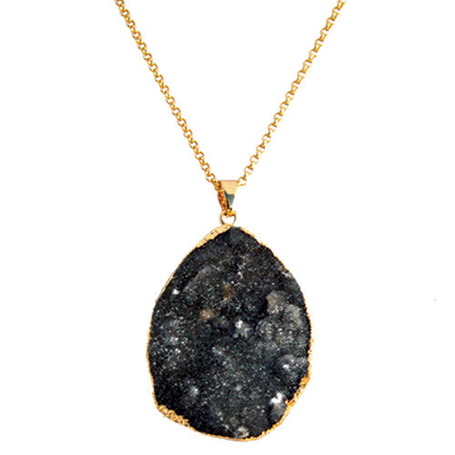 Long Druzy Necklace